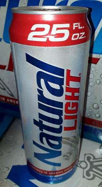 Here's a 25 oz can of Natty Lite by the Anheiser Busch Brewery.