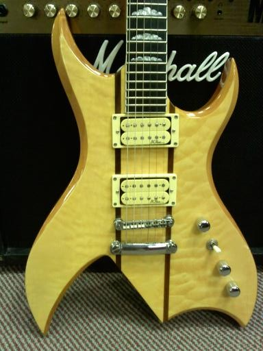A BC Rich Bich Classic Series with neck through design, probably the most beautiful guitar ever made.