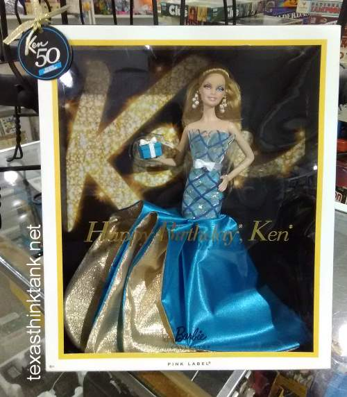 """What's in the box?"" is the question which comes to mind upon seeing the special ""Happy Birthday Ken"" Barbie Doll, a member of the Barbie Pink Label collection, which celebrates the 50th Anniversery of Ken."