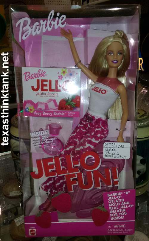Here's a pic of Jell-o Fun Barbie, including a package of the limited edition Very Berry Barbie Jell-O.