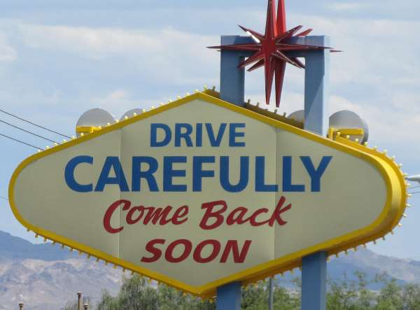 Photo of the sign seen on Boulder Highway as you leave Las Vegas to the southeast, into southern Clark County Nevada.