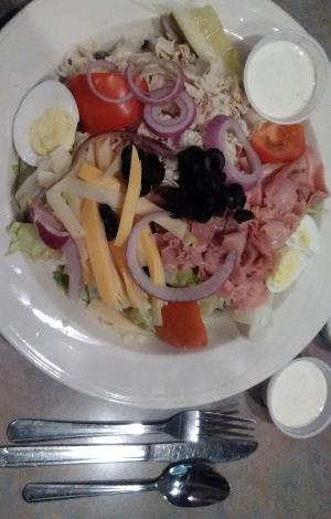 This delicious chef salad was an artistic creation of the food service professionals at the Chuckwagon Restaurant at The Longhorn Hotel & Casino on Boulder Highway in East Las Vegas.