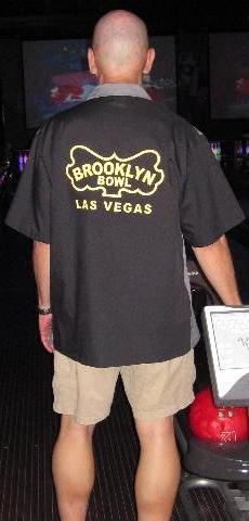 Rockin' my stylish new Brooklyn Bowl Las Vegas bowling shirt which was purchased from the good folks at www.bowlingshirt.com.