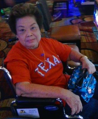 My mother-in-law Charita Hillman doing what she does best, playing the slot machines at Southern Oklahoma casinos in The Choctaw Casino in Durrant and The Winstar Resort in Thackerville.