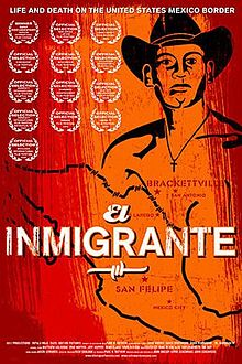 "Poster for the movie ""El Inmigrante"" (""The Immigrant"") by David and John Eckenrode and John Sheedy, about Eusebio de Haro."