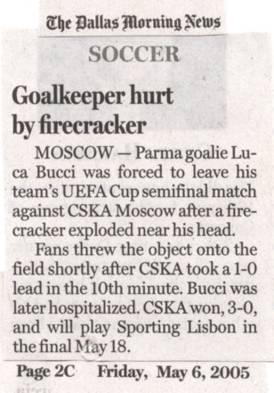 With Russia hosting the FIFA World Cup this year, I'll be looking for this sort of activity during Russia's matches.