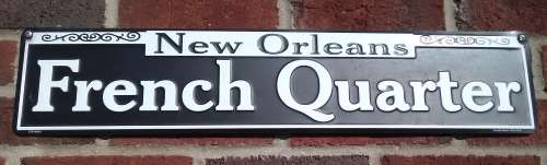 A sign for the French Quarter in New Orleans, LA, aka NOLA.