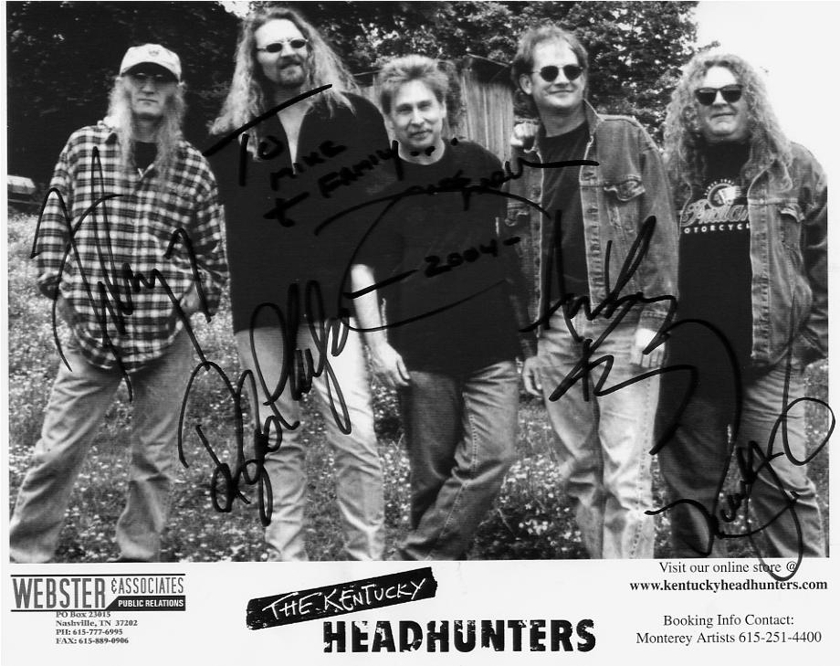 Autographed publicity photo of The Kentucky Headhunters.