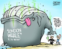 Image Credit:  Magazine comic on the subject of the infamous London Whale at JP Morgan Chase Bank