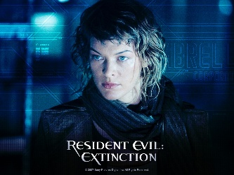 Actress Milla Jovovich in the ultimate zombie movie series Resident Evil.