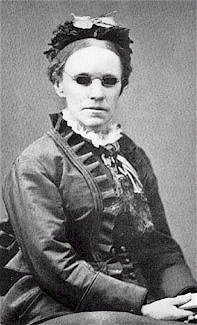Photo of Fanny Crosby, composer of numerous hymns.