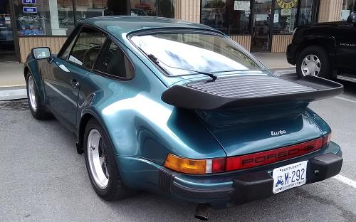 A Porsche 911 Turbo model 930 with whale tail air foil, said to be the former property of lead man Lou Gramm of the rock band Foreigner.
