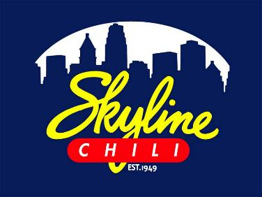 Skyline Chili Parlor Restaurant logo with blue background