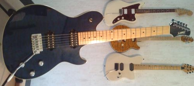 My Collection Of Electric Guitars With Off Set Bodies