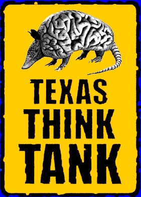 Texas Think Tank logo courtesy of The Netherlands' Mr. Mark Boon, Holland's Virtual Vermeer. It is a fine example of a cryptographic rebus.