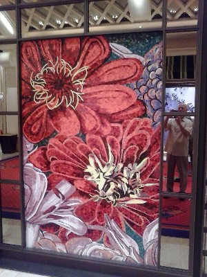 An example of the art work found on the walls of The Wynn Resort and The Encore Resorts on the Las Vegas Strip.