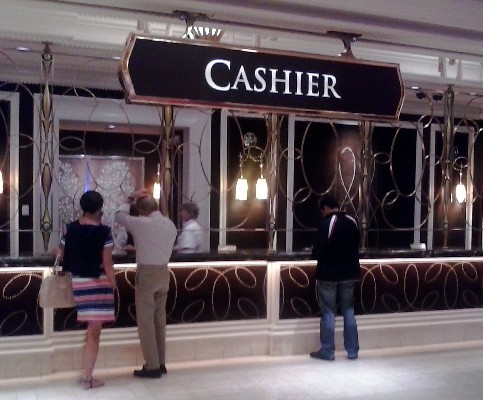 A pic of the cashier area of the Wynn Resort and Casino in Las Vegas, Nevada.