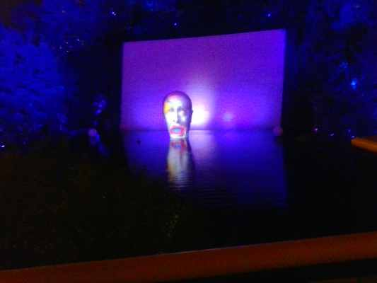"Photo of the ""Oh, Yeah"" show as viewed from the North Show Terrace at The Lake of Dreams at The Wynn Resort Las Vegas Nevada."