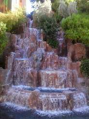 One of the waterfalls just outside the west entrance of The Wynn Resort in Las Vegas.