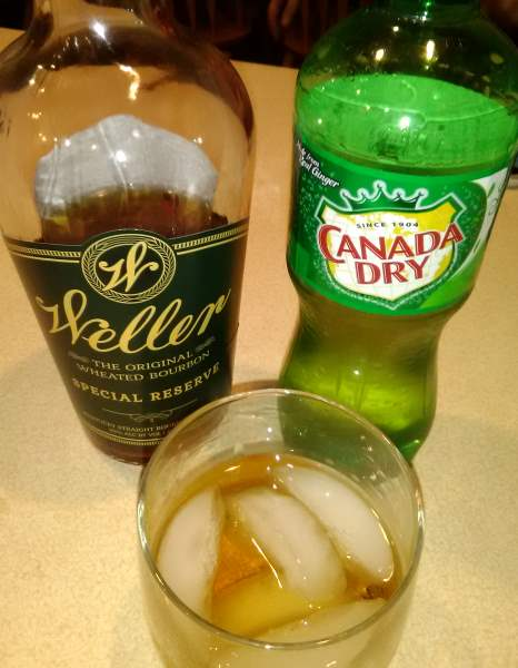 A favorite cocktail of Canada Dry Ginger Ale and Bourbon, particularly Weller Special Reserve Wheated Whiskey made in Frankfort at Buffalo Trace Distillery.
