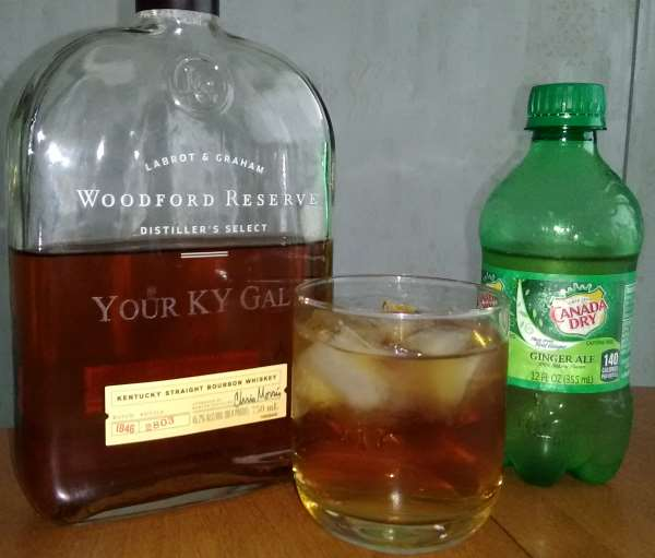 While usually too good for mixing, Paula and were using Woodford Reserve Distiller's Select bourbon whisky and Canada Dry Ginger Ale.