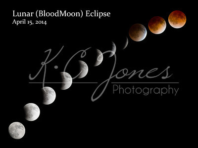 The blood moon cycle as photographed by Kevin Jones, Texas photographer extraorinaire, captures a full lunar eclipse.  Click on the photo to go to Kevin's web site.