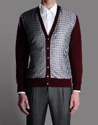 Pic of a cardigan sweat by Brioni Men's Clothing, which has a boutique in the esplanade of The Wynn Resort in Las Vegas, Nevada.