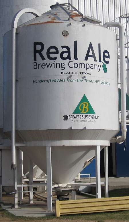 Photo taken in 2015 of the Real Ale Brewing Company craft brewery in Blanco, Texas, the brewers of Firemans #4 blonde ale.