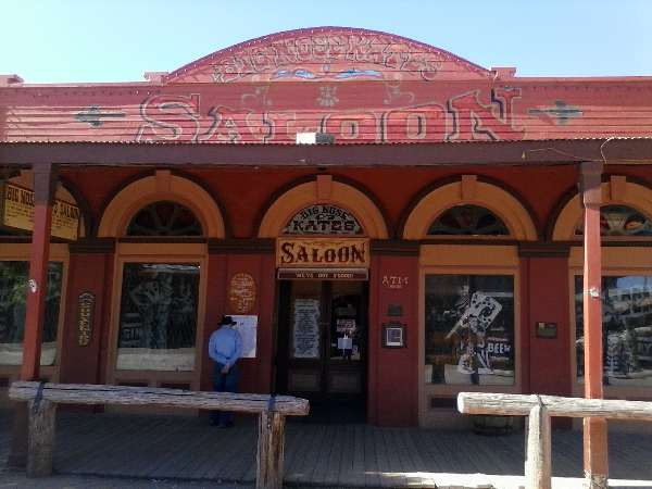 Photo of Big Nose Kate's Saloon in Tombstone, AZ.  Big Nose Kate was Doc Holliday's girlfriend.