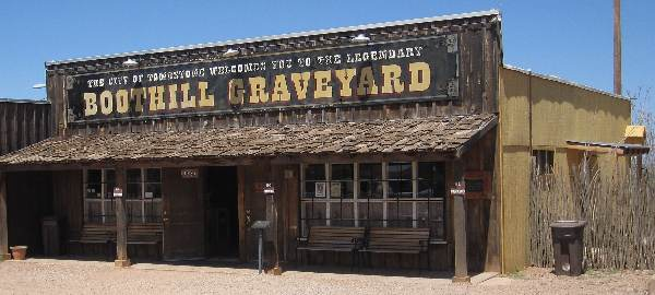 Pic of the famous Boot Hill Graveyard in Tombstone, AZ.  Also called the Boothill Cemetery.