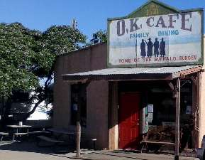 Photo of the O.K. Cafe on Allen Street in Tombstone, AZ.