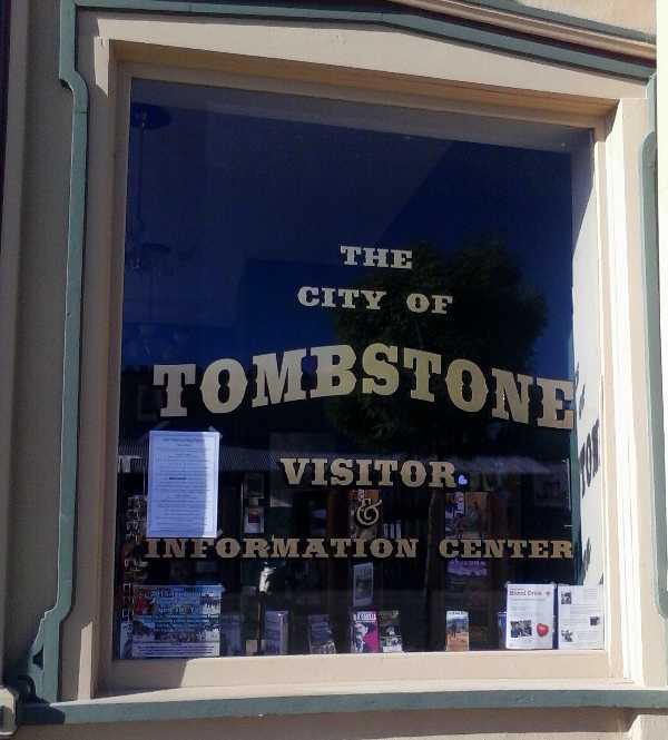 Photo of the entrance of The City of Tombstone Visitor & Information Center which sits next to the Tombstone Chamber of Commerce.