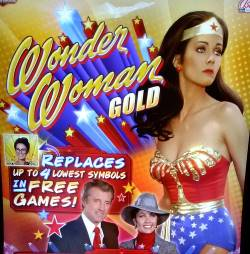 Photo of the Wonder Woman Gold slot machine by Bally Technologies and Scientific Games, which recently went through a merger.