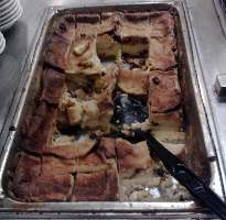 Photo of the bread pudding found by the author at the buffet of The Westgate Resort and Casino.
