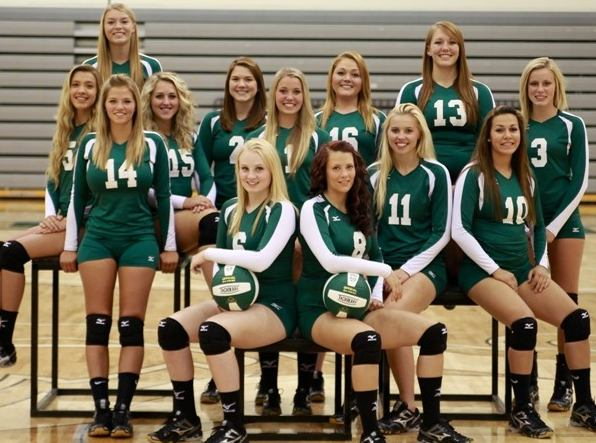 Williston State College varsity women's volleyball team of 2014.  The Lady Tetons play volleyball in and around Williston, ND.